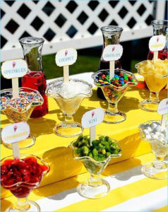 ice cream party topping bar